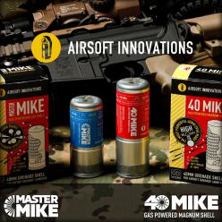 AIRSOFT INNOVATIONS 40MIKE ガスパワー マグナムシェル [日本語説明書付]/MASTER MIKE ガスパワー ブラストシェル [日本語説明書付]【好評発売中!】