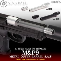 "NINEBALL METAL OUTER BARREL S.A.S for TOKYO MARUI GAS BLOWBACK ""M&P9""[14mm・CCW]"
