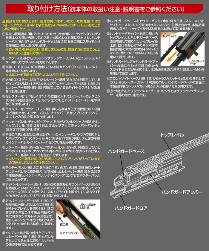 TYPE 89 RIFLE KEYMOD HANDGUARD SHORT