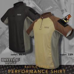 [In Stock!]BATTLE STYLE PERFORMANCE SHIRT (BK/FG)(TAN)