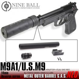 [Pre-order!]NINE BALL Marui M9A1/US.M9 Metal Outer Barrel SAS NEO[14mm逆ネジ・CCW]