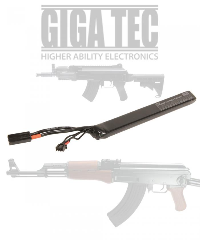 GIGA TEC EVO Lipoic Battery 7.4V/1100mah STICK AK TYPE