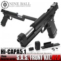 [In Stock!]NINE BALL 東京マルイ Hi-CAPA5.1 S.A.S. FRONT KIT NEO[14mm逆ネジ・CCW]