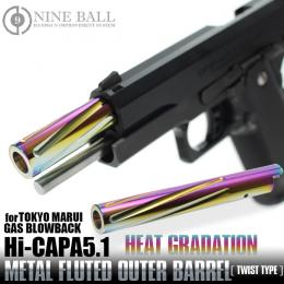 [Pre-order!]Hi-CAPA 5.1 FLUTED OUTER BARREL TWIST TYPE(HEAT GRADATION)