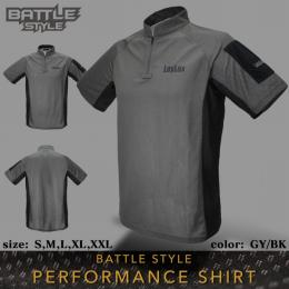 [Pre-order!]BATTLE STYLE PERFORMANCE SHIRT GY/BK