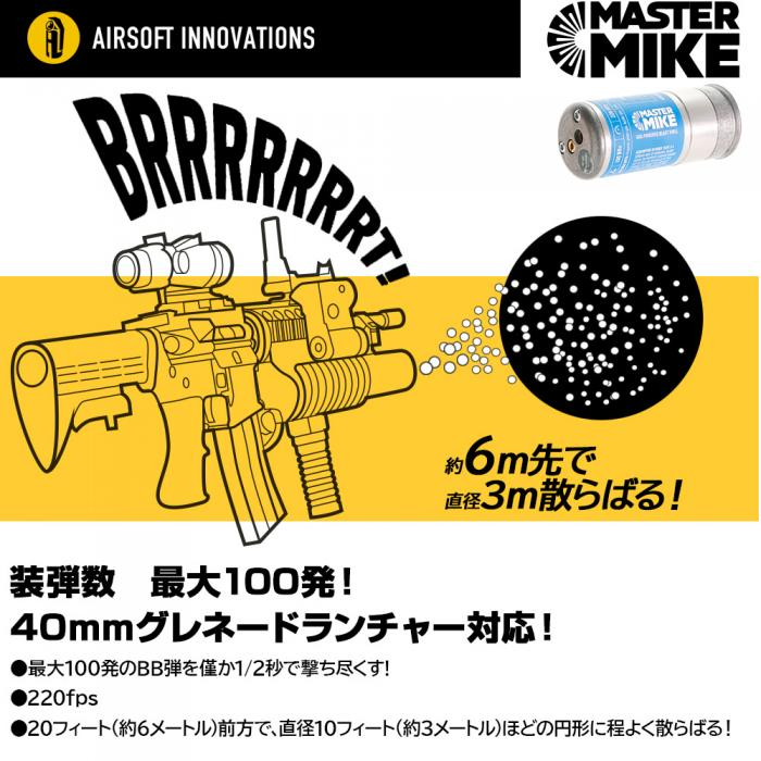 AIRSOFT INNOVATIONS MASTER MIKE ガスパワー ブラストシェル [日本語説明書付]