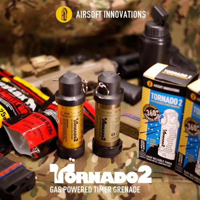 AIRSOFT INNOVATIONS TORNADO 2 TIMER FRAG GRENADE