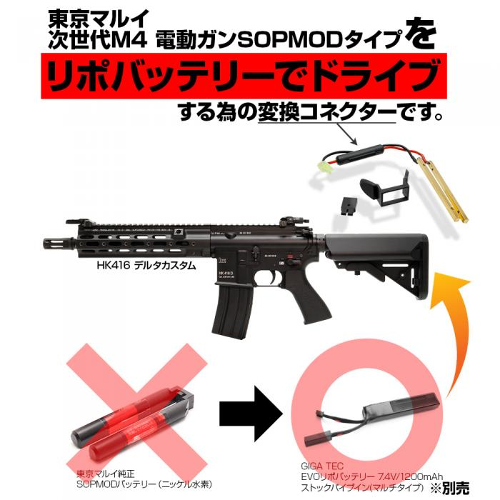 CONVERSION CONNECTOR for NEXT GENERATION M4 SOPMOD STOCK