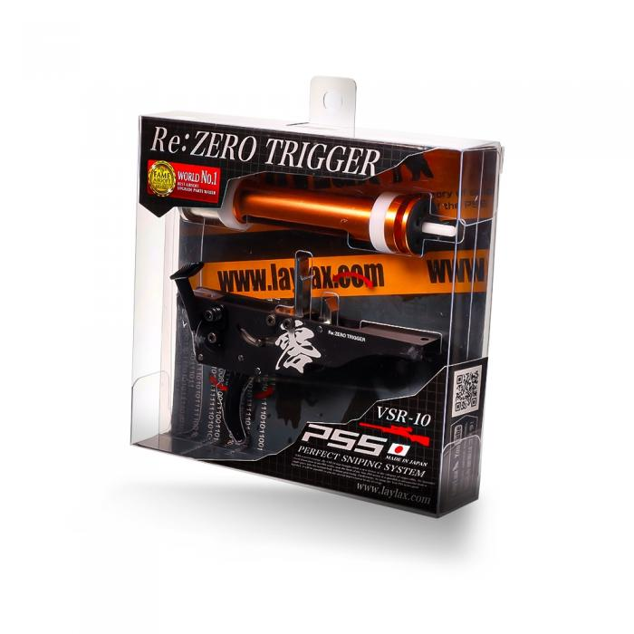 PSS Re:ZERO Trigger with High Pressure ZERO Piston for Tokyo Marui VSR-10 Airsoft Sniper Rifles