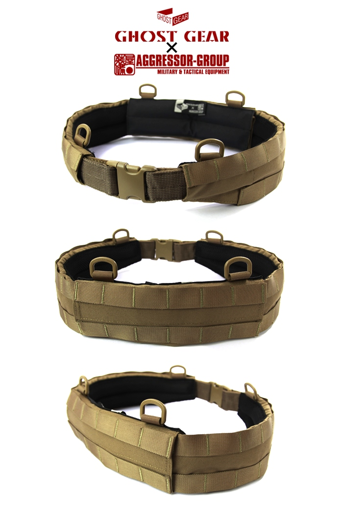 """3Pcs MOLLE Pad Belt - """"Ghost Gear & Aggressor Group Collaboration Product"""" """