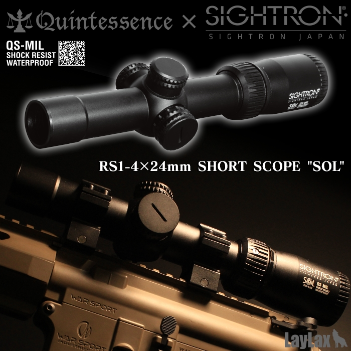 "RS1-4 x 24mm Short Scope ""SOL"""